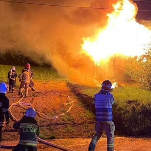 Pożar barakowozu na ulicy ks. Stanisława Brzóski
